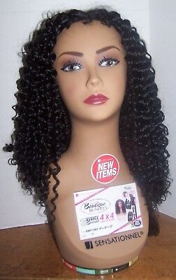 Long Curly Hair Mannequin Head Hat Glasses Headphone Display Model Swivel Base