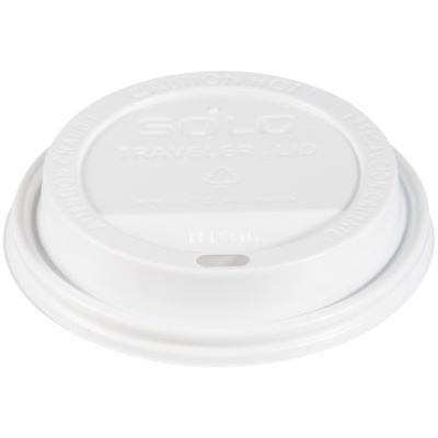 Solo TLP316-0007 White Traveler Plastic Lid - For Solo Paper Hot Cups (Case of