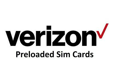 Verizon Prepaid Preloaded Sim Cards - Pick Your Plan -