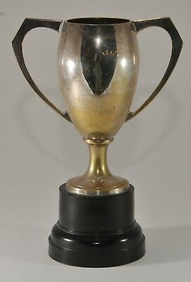 """Vintage Silver Plate Unengraved Trophy Cup 11"""" Tall"""