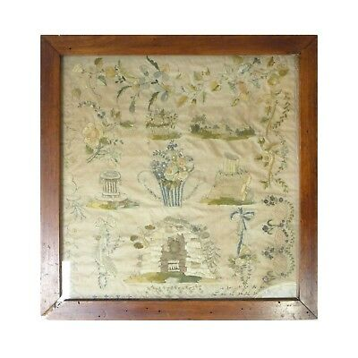 Antique1813 Silk SCHOOLGIRL Sampler Framed Embroidery Piece Schimpt, Henriette..