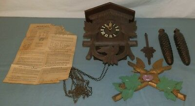 Vintage Germany Cuckoo Clock for Parts or Restore