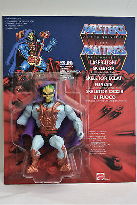 Laser Light Skeletor Masters of the Universe MOTU 100% Repro ON CARD/BLISTER