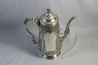 Sterling Silver Hand Chased Antique Coffee Pot - 224 - 32.245ozt (AEX/M3)