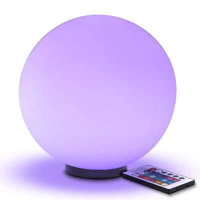 LED Globe Night Light Ambient Color Changing Glass Mood Lamp with Remote Control