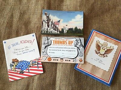 WWII Greeting cards And Post Card Lot