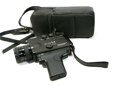 AGFA Movexoom 6 mos electronic Super 8 Movie Camera & Case - Rare & Clean