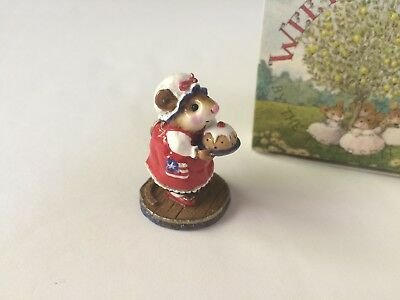 Wee Forest Folk M-250 PUDDING ANYONE? Store SPECIAL Patriotic R/W/B - MINT w/Box