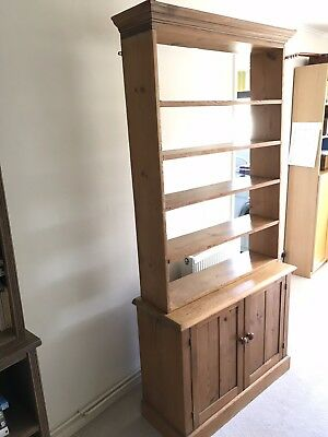 Antique Victorian Pitch Pine shelves and cupboard