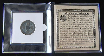 Authentic Song Dynasty (960 AD - 1279 AD) I Ching Bronze Coin With Certification