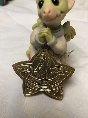 "The Whimsical World of Pocket Dragons ""Christmas Angel w/ ornament Real Musgrave"