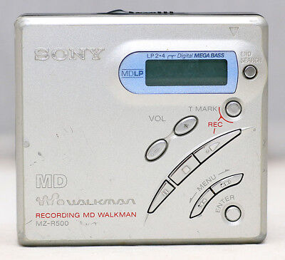 SONY Walkman MZ-R500 mini Disc MiniDisc Player Recording MD