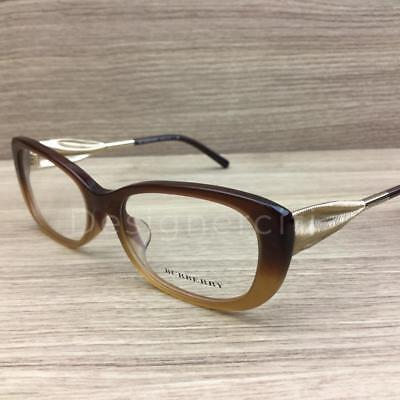 d2d53b045a8f Burberry BE 2203-F 2203 F Eyeglasses Brown Gradient Gold 3369 Authentic 54mm