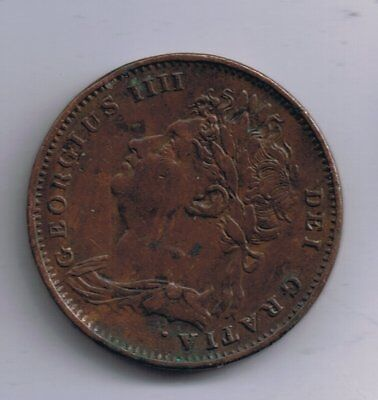 1825 George IV farthing 1/4d coin