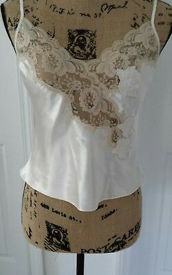 Victoria's Secret ivory Camisole Lingerie top Size Small Petite Lace Sexy