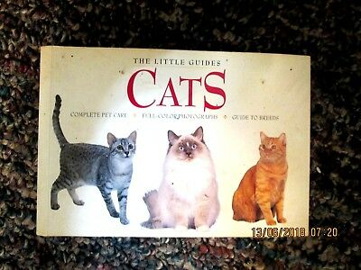 Cat Book Sb The Little Guides Cats Care,breeds,in Color Lots Illustrations