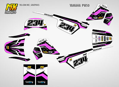 MX Graphics Yamaha PW 50 Graphics Decals Kit PW50 Stickers Kit