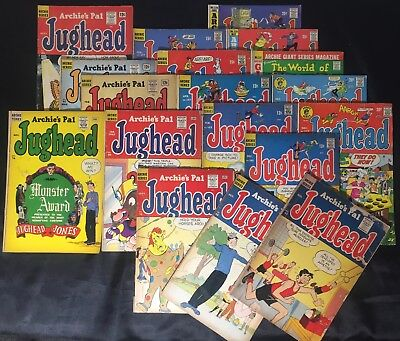 Lot of 18 Archie's Pal Jughead #43#65#76#78#80#81#82..(Archie,1957)Free Shipping