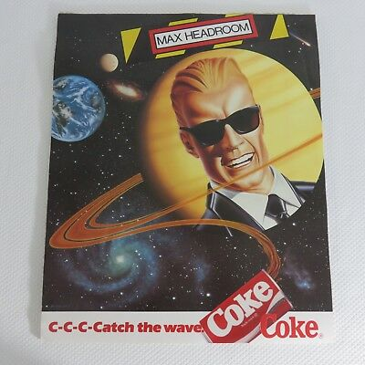 COKE Poster Max Headroom Coca Cola 80s Catch the Wave Outer Space 48 Poster Lot