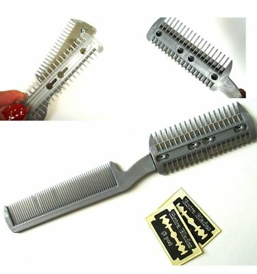 SILVER Pet Dog Cat Hair Trimmer Comb Razor Cutting Grooming Cut Trimming Manual