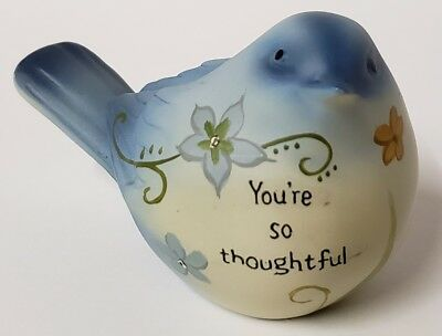 New Ganz You're So Thoughtful Bluebird Hand Painted Bird Table Decor Figurine