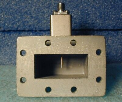 WR-137 waveguide to coax adapter, with isolator