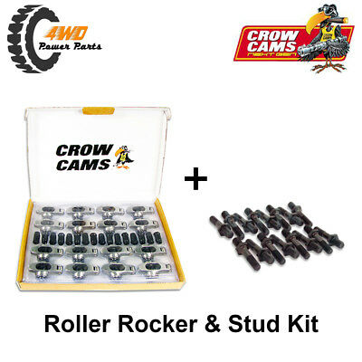 "Holden 6 Cyl 179 186 202 Crow Cams Roller Rockers & Studs Kit 3/8"" Stud 1.5:1"