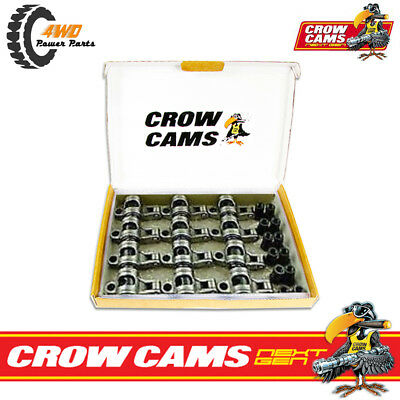 """Crow Cams Next Gen Stainless Roller Rockers 3/8"""" Stud 1.5 Holden 6 Cyl CRHL6153"""