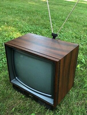 Vintage '89 Zenith SPACE COMMAND Woodgrain TV W/Remote Television  SF1315W WORKS