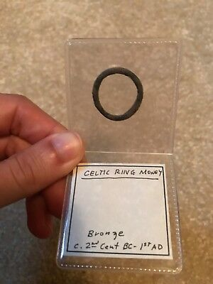 RARE Celtic Ring Money Bronze 200 BC-100 AD