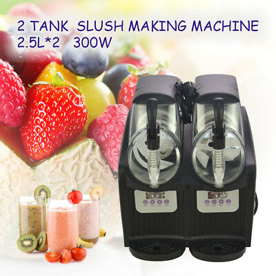 2*2.5L 300W Double Bowl Mini Margarita Slush Frozen Drink Machine