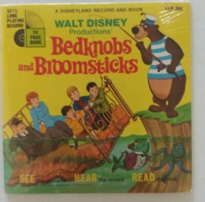 NEW Walt Disney #364 BEDKNOBS AND BROOMSTICKS Record & Book Set SEALED 1971