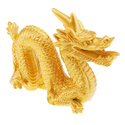 Traditional Chinese Dragon Statue Wealth Feng Shui Figurine Table Decor