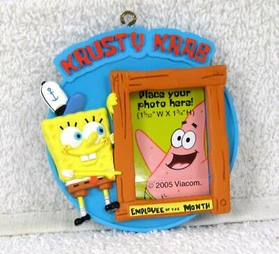SPONGEBOB Picture Frame KRUSTY KRAB Xmas Ornament
