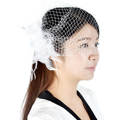 New Fashion Wedding Headdress Bridal Net Birdcage Face Veil Hair Comb