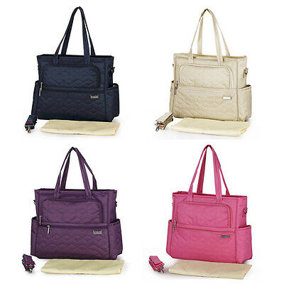 Waterproof Tote Mummy Baby Bag Diaper Nappy Changing Large Luggage Shoulder Bags