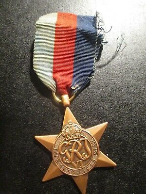 1939-45 Star with tatty ribbon medal is Mint condition as new ref: Y36