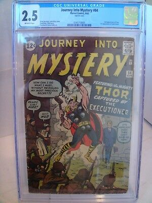 Journey into Mystery #84 1962 CGC 2.5 1st appearance of Jane Foster Ditko Kirby