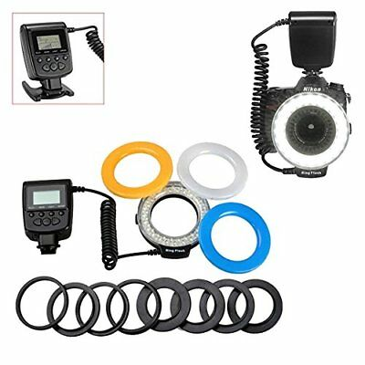 48 Macro LED Ring Flash Bundle with LCD Display Power Control, for Canon Nikon