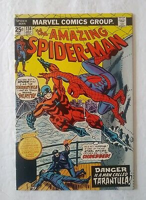 The Amazing Spider-Man #134 (July 1974, Marvel) F/vf  First Tarantula!
