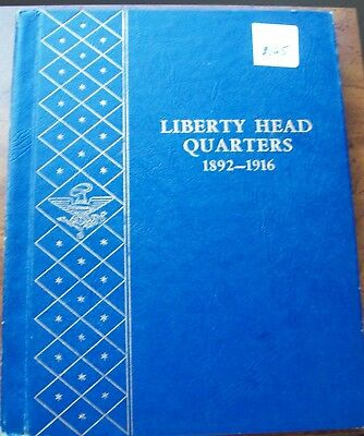 Whitman Liberty (Barber) Quarter Album With 27 Silver Coins
