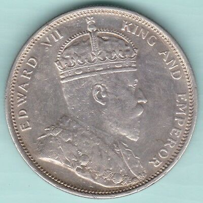 Strait Settlements - 1904 - King Edward Vii - One Dollar - Ex Rare Silver Coin