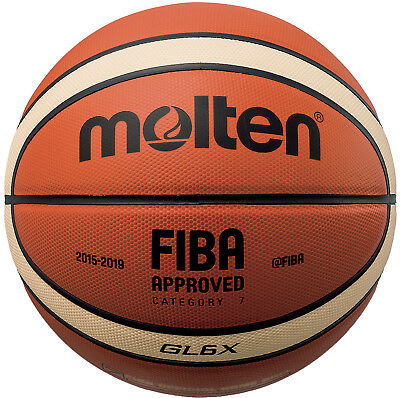 Molten Basketball GL6X Authentic Leather FIBA Official Game Ball Size:6 - 28.5