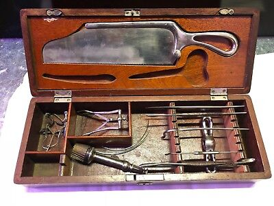 Late 1800s Antique Medical Amputation Kit