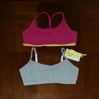 Yellowberry $65 NEW Tween Girl Small Bra Lot Cotton Training Ladybug Sport Flip