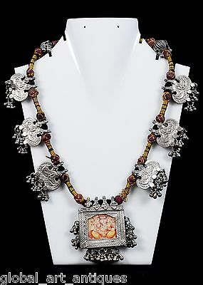 Rare Antique Collectible Ethnic Jewellery Tribal Indian Amulets Necklace.G11-1