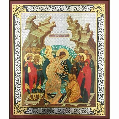 Resurrection Of Christ Russian Wooden Icon 3 inch
