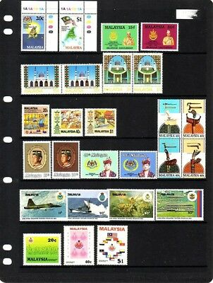 MALAYSIA....  Collection of 13 sets (9 mnh, 4 used)