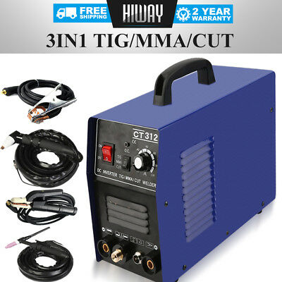 CT312 110/220V TIG ARC Welder + Plasma Cutter 3in1 Welding Machine + Consumables