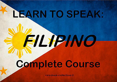 Learn To Speak Basic Filipino - Language Course - 11 Hrs Audio Mp3 & Book On Dvd